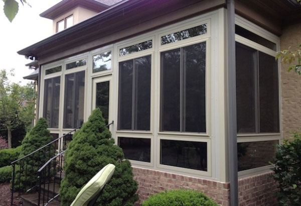 Glass and four seasons  Porch enclosure, Charlotte, NC; glass in porch, near Huntersville, NC; Rock Hill, SC; vinyl replacement windows, south carolina