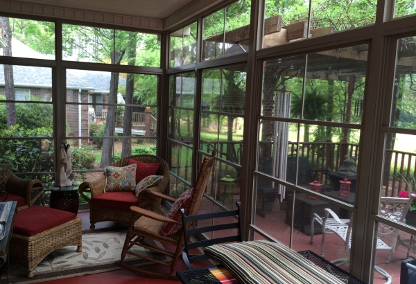 EZE Breeze porch enclosure for sunroom, Anderson, SC; near Greenville, SC DIY