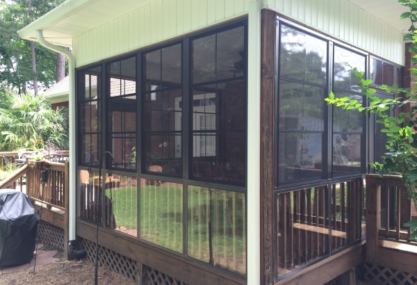 EZE Breeze porch enclosure for sunroom, Chapin, SC; near Irmo, SC and Columbia, SC DIY