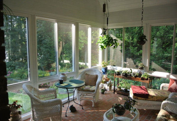 Glass porch enclosure sunroom, Greenville, SC; near Spartanburg, SC and Simpsonville, SC